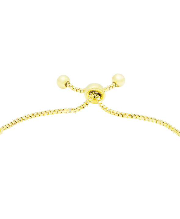 CZ Bolo Bracelet in 18K Gold over Sterling Silver