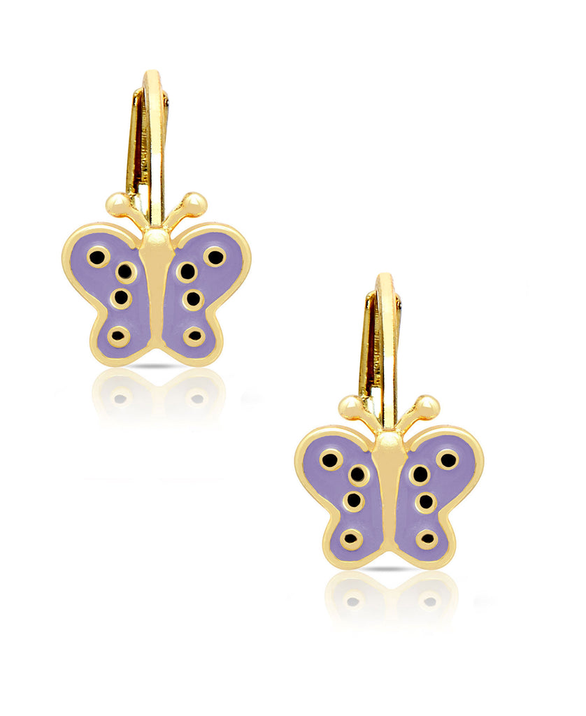 Butterfly Leverback Earrings-1