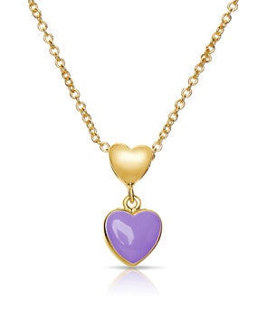 Double Heart Pendant (Purple)
