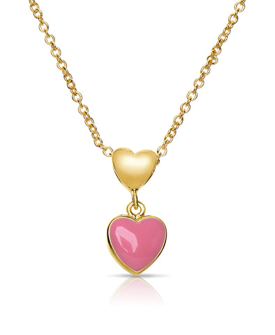 Double Heart Pendant (Pink)