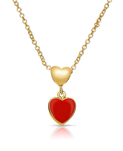 Double Heart Pendant (Red)