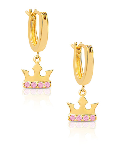 Tiara Dangle Earrings in 18K Gold over Sterling Silver