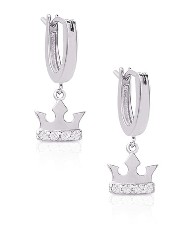 Tiara Dangle Earrings in Sterling Silver
