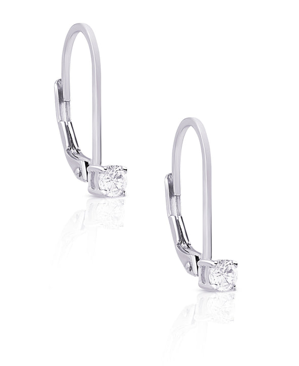 CZ Drop Earrings in Sterling Silver