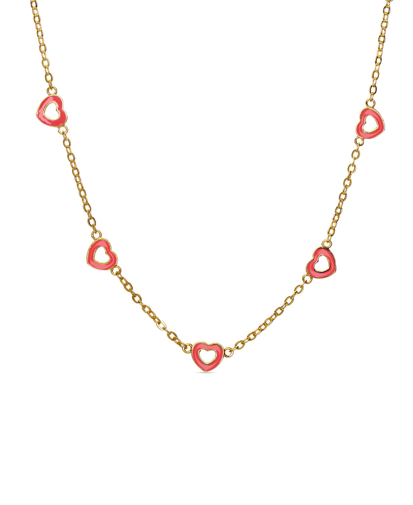 Seven Hearts Station Necklace-9