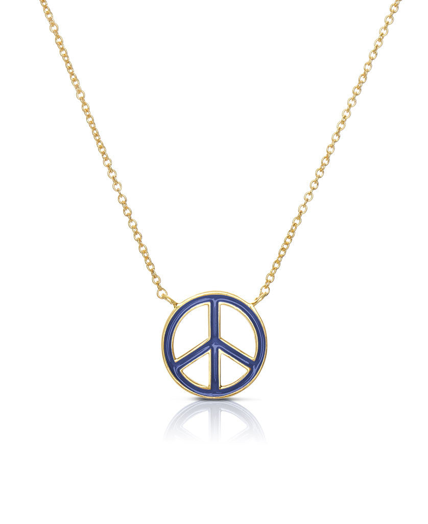 Peace Sign Necklace-4
