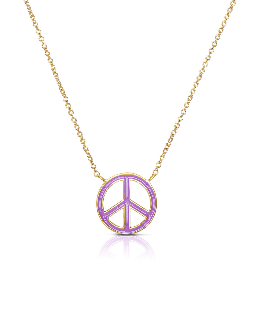 Peace Sign Necklace-2