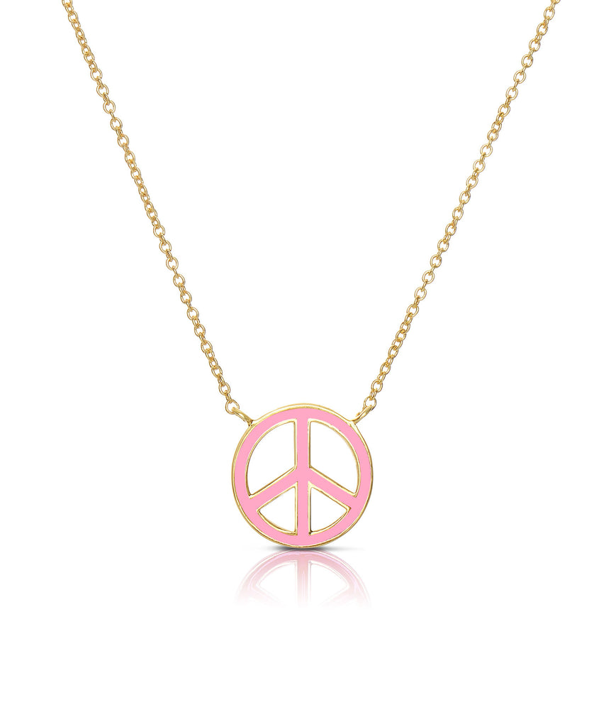 Peace Sign Necklace-1