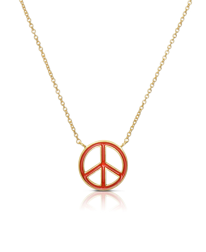 Peace Sign Necklace-3