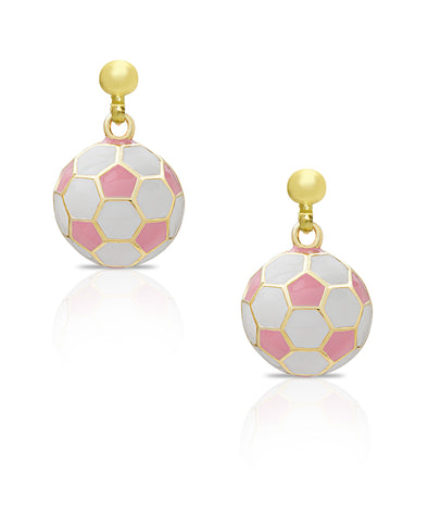 Soccer Ball Drop Earrings