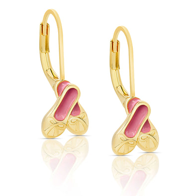 Ballet Slippers Drop Earrings