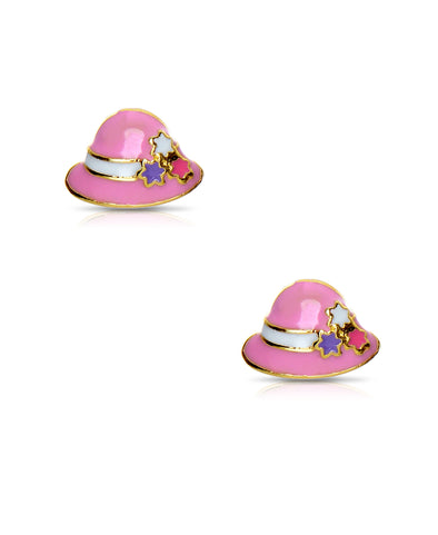 Bucket Hat Stud Earrings