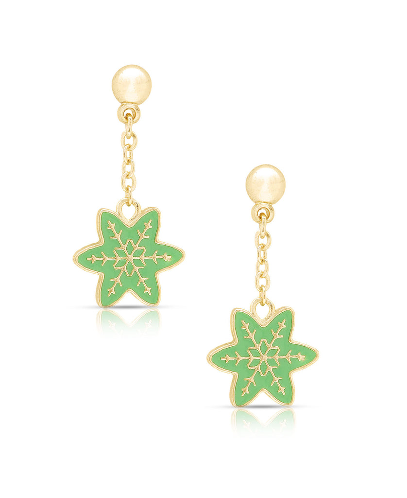 Snowflake Dangle Earrings-1