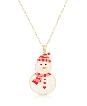 Snowman Pendant (Pink/Red)