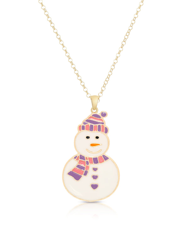 Snowman Pendant (Purple/Red)