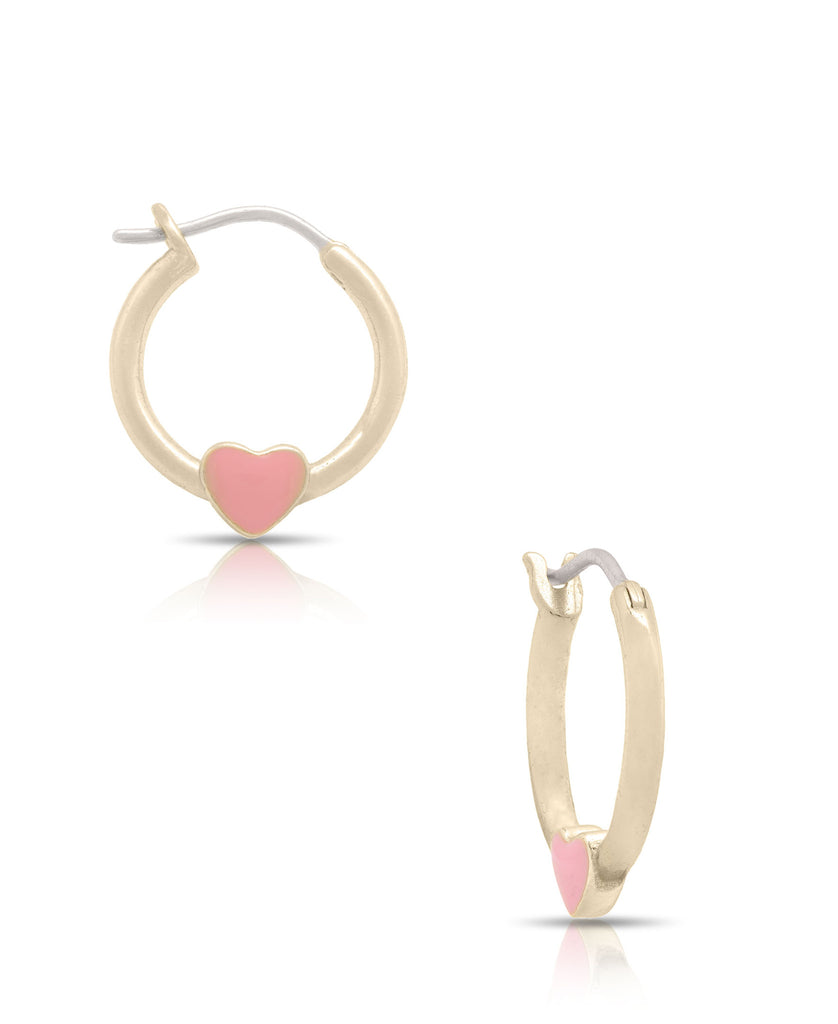 Heart Hoop Earrings-1
