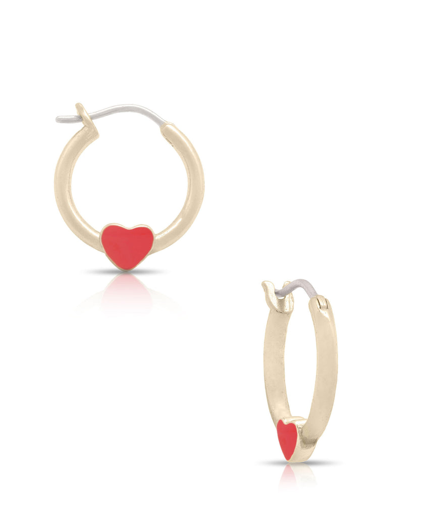 Heart Hoop Earrings-2
