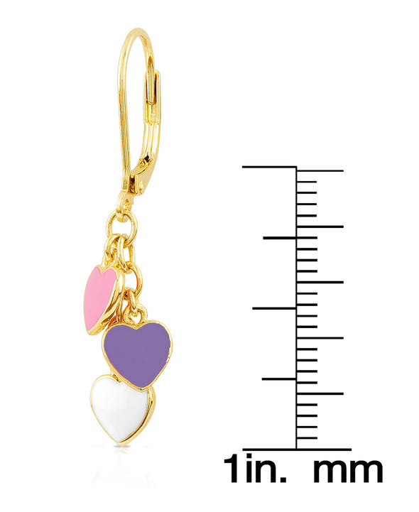 Heart Charms Drop Earrings