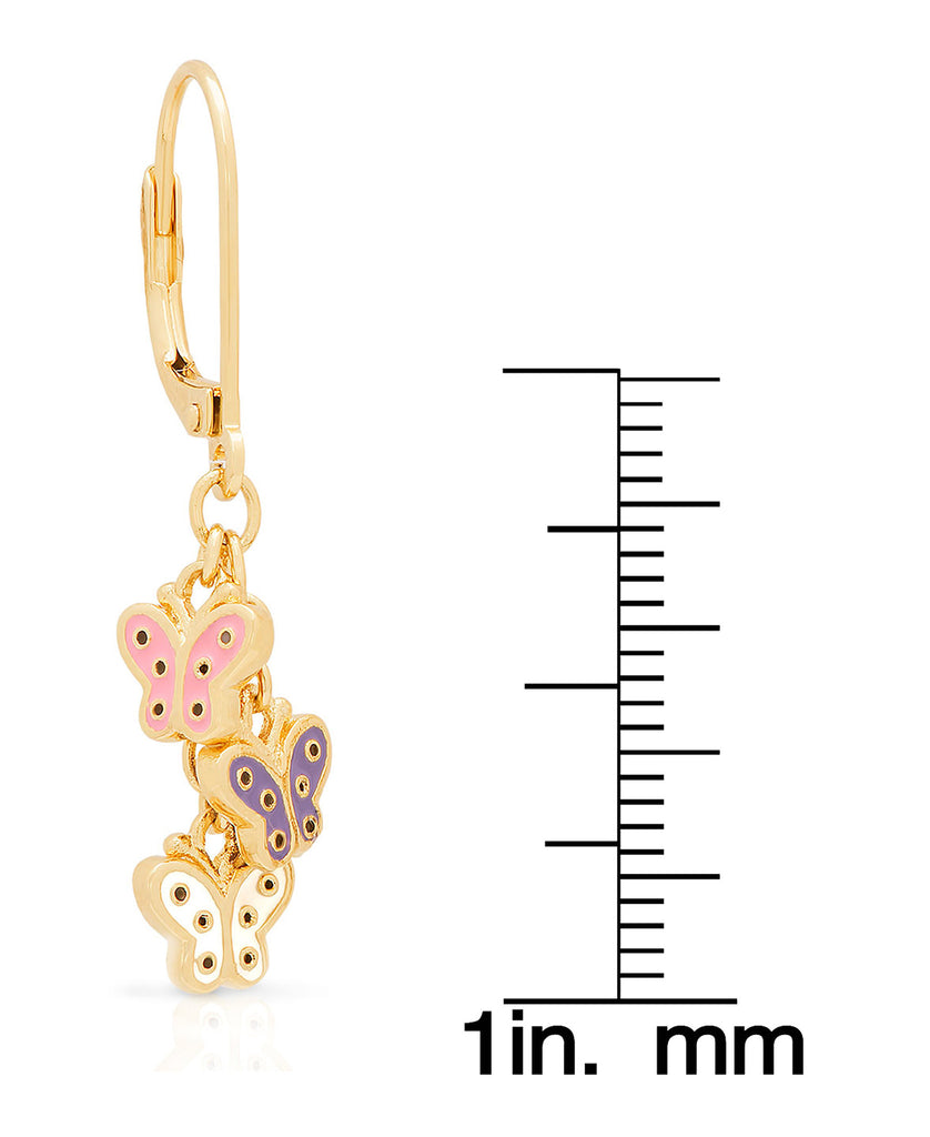 Butterfly Charms Leverback Earrings-2
