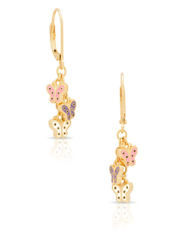 Butterfly Charms Drop Earrings