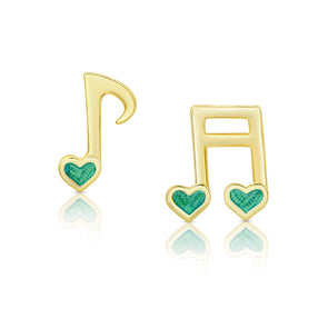 Musical Notes Stud Earrings