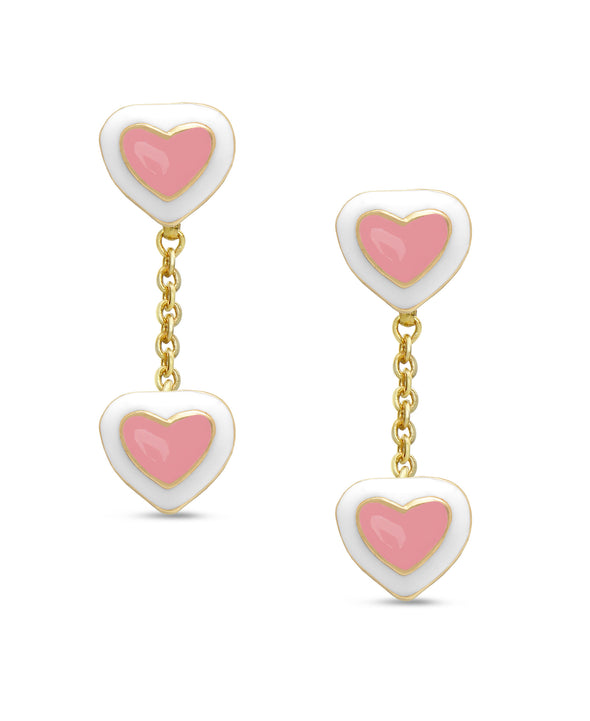 Double Heart Dangle Earring