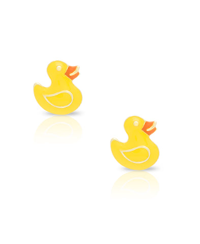 Yellow Duck Stud Earrings