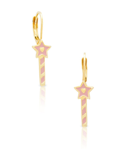 Princess Wand Leverback Earrings