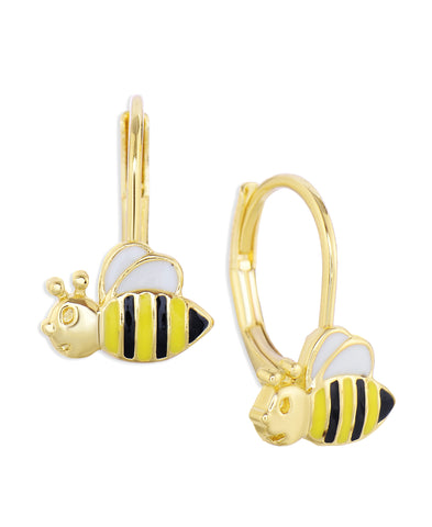 Bumblebee Leverback Earrings