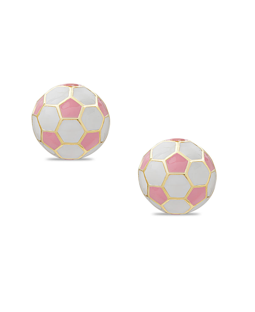 and rose gold com pink tone porcelain earrings dp amazon jewelry stud