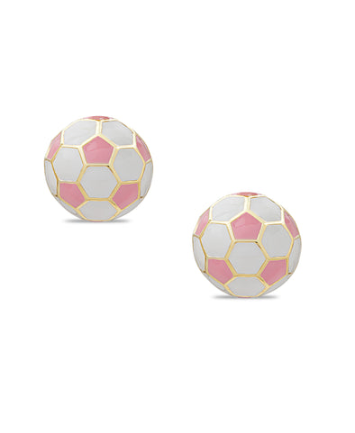 3D Soccer Ball Stud Earrings