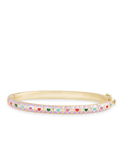 Purple Heart Tiles Bangle