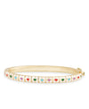 White Heart Tiles Bangle