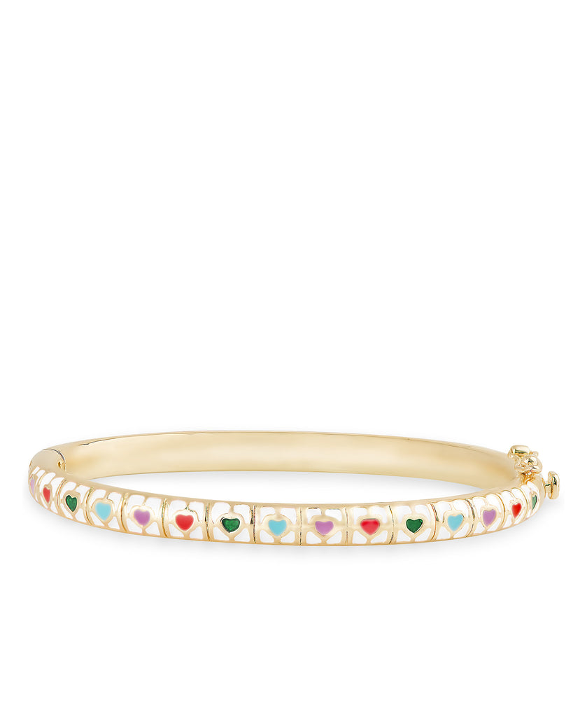White Heart Tiles Bangle-1
