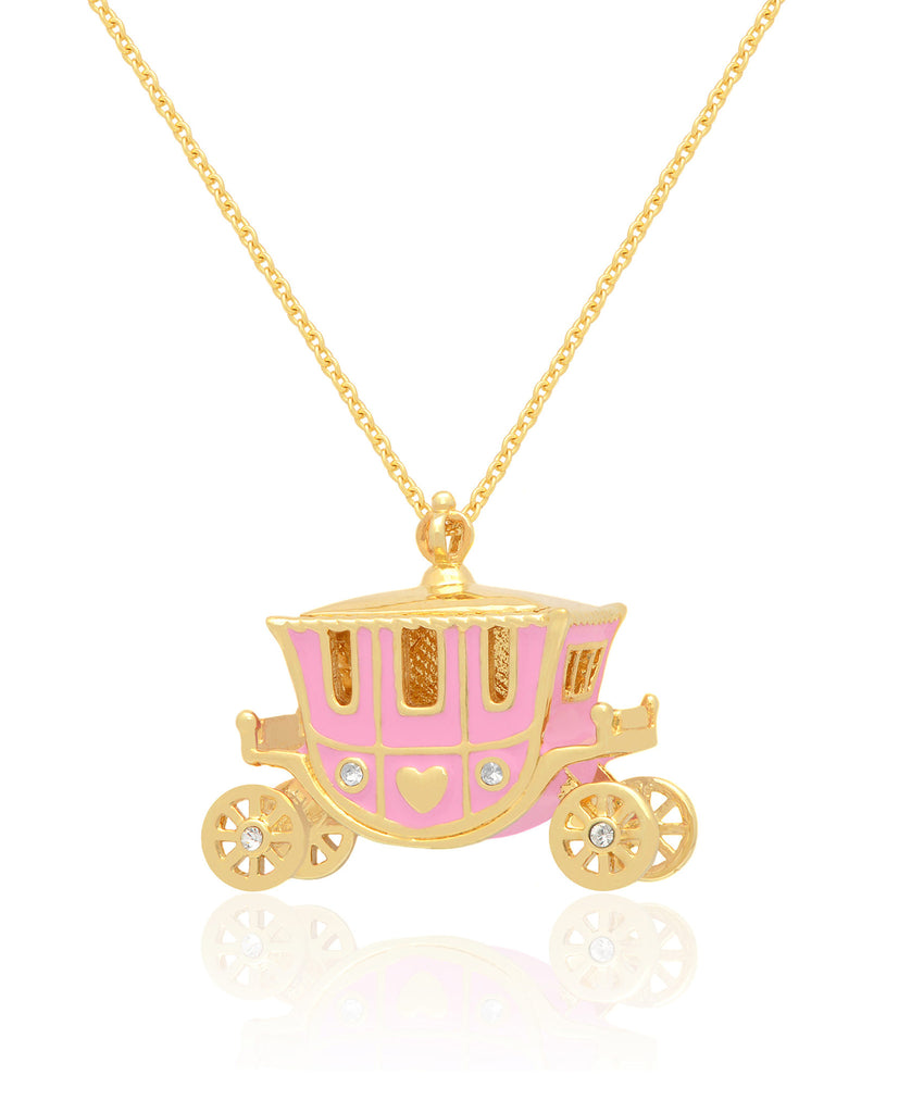 Princess Carriage Necklace with CZ-1