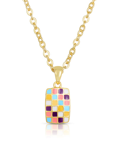 children's jewelry, kids jewelry, mosaic pendant