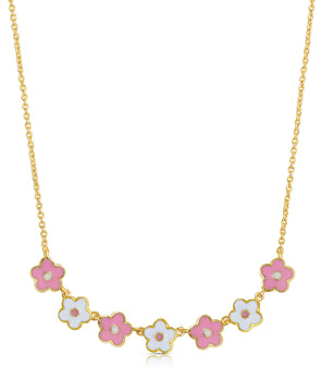 Flower Link Necklace