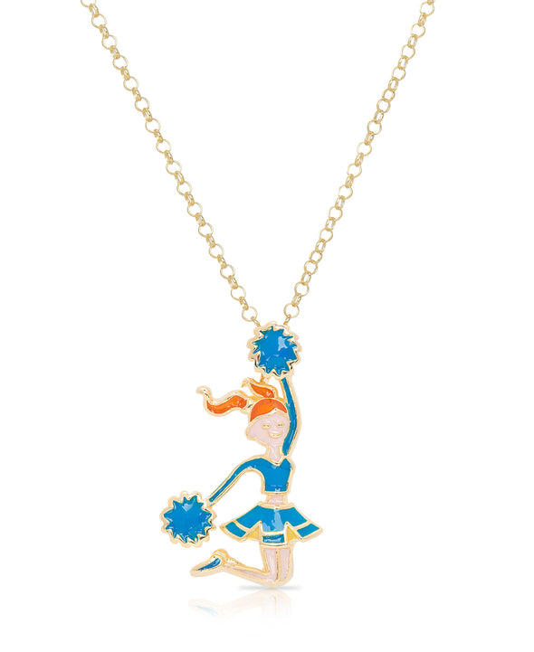 Cheerleader Pendant (Blue)