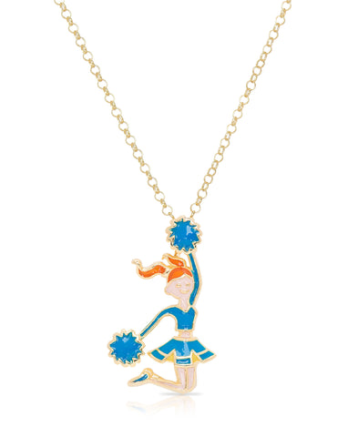Blue Cheerleader Pendant