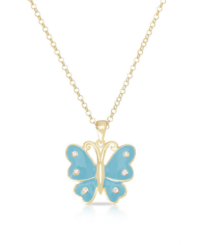 Butterfly Pendant (Turquoise)