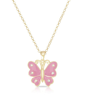 Butterfly Pendant (Pink)
