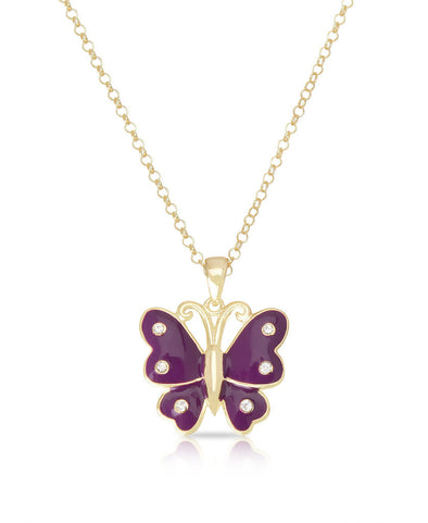 Butterfly Pendant (Purple)