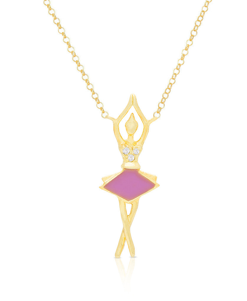 Ballerina Necklace with CZ-1