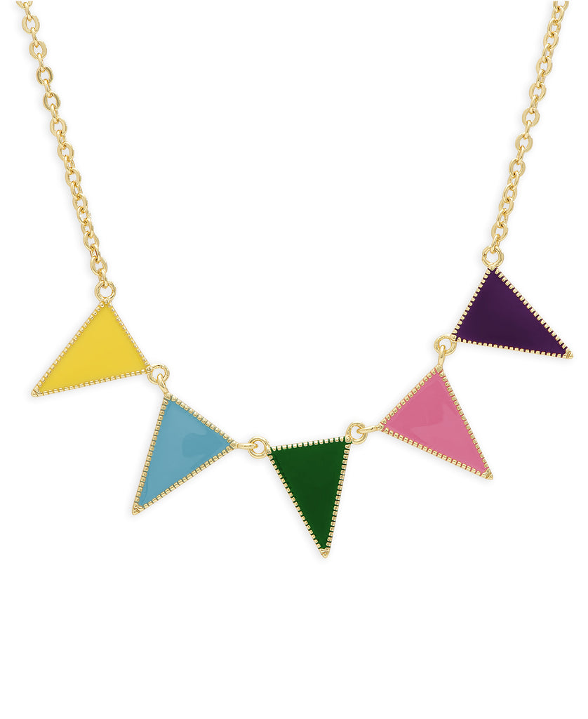 Triangle Banner Necklace-1