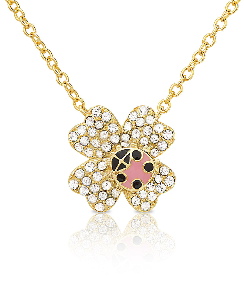 Ladybug on Flower Necklace-1