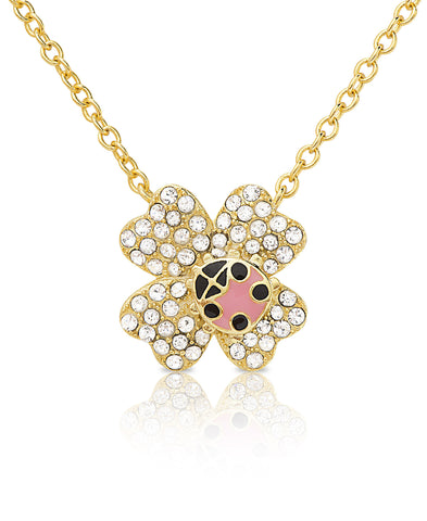 Ladybug on Flower Necklace