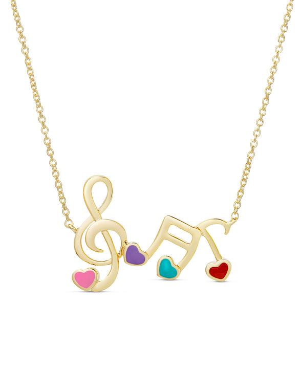 Musical Note Links Necklace - Multi