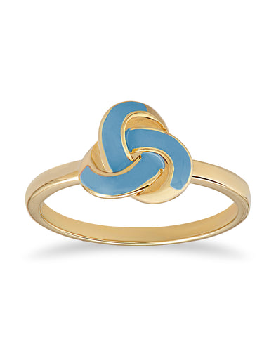 Blue Love Knot Ring