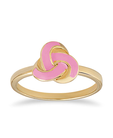 Pink Love Knot Ring