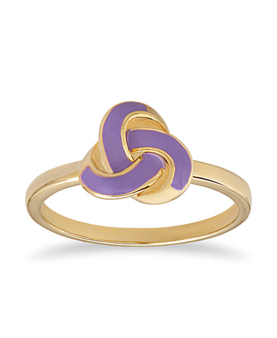 Purple Love Knot Ring